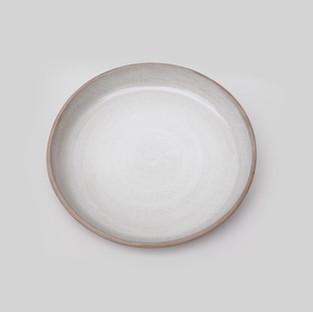 Ceramic Ivory Linen Pasta Plate