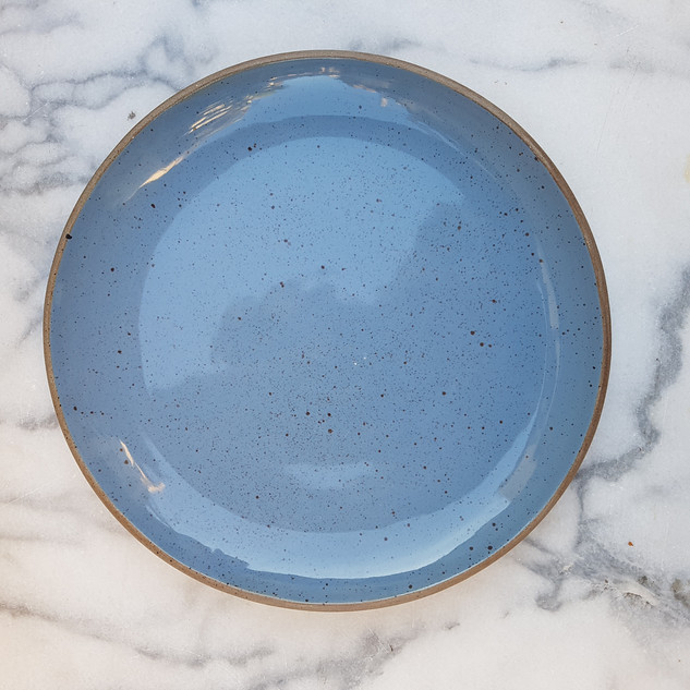 Blue Speckled Dessert Plate 18cm