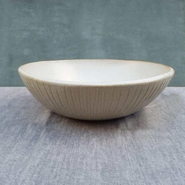 White Matte Big Bowl 27x8cm