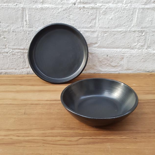 Black Matte High Lip & Small Gabi Bowl