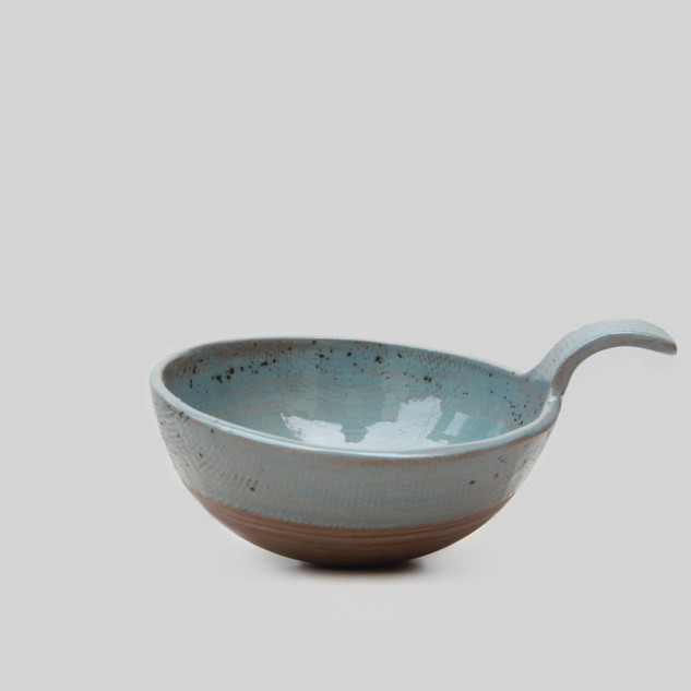 Ceramic Grey Linen Bowl