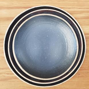 Black Speckled Plates