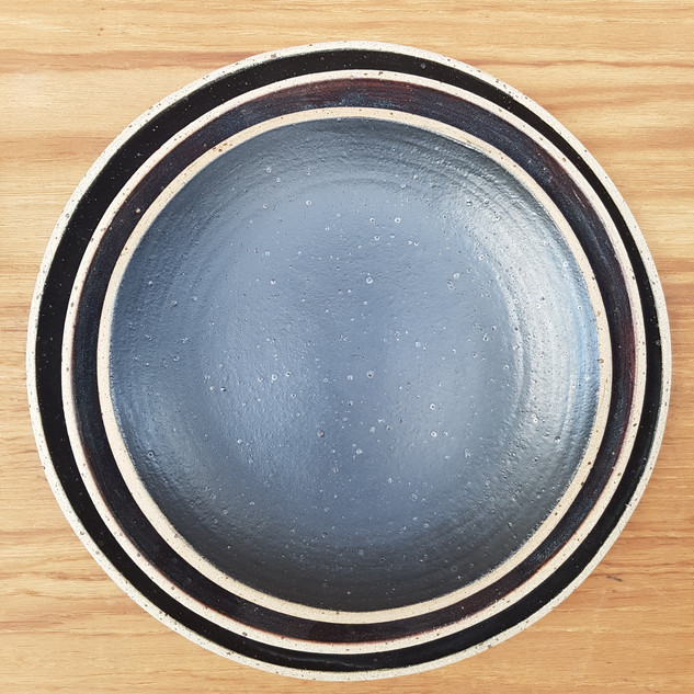 Black Speckled Plates
