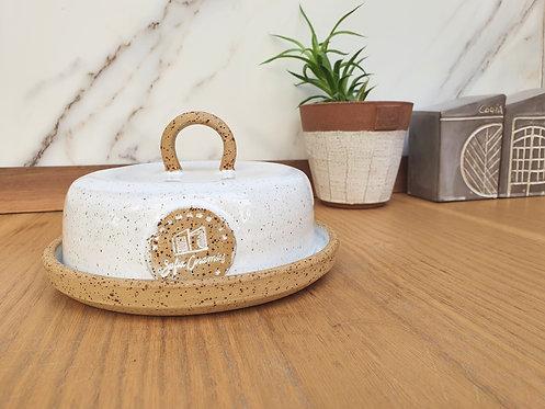 Vanilla White Butter Dish & Container