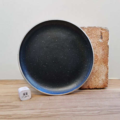 Black Speckled Dinner Plate 26cm