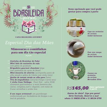 Caixa Brasileira Gourmet-Especial Dia das Mães