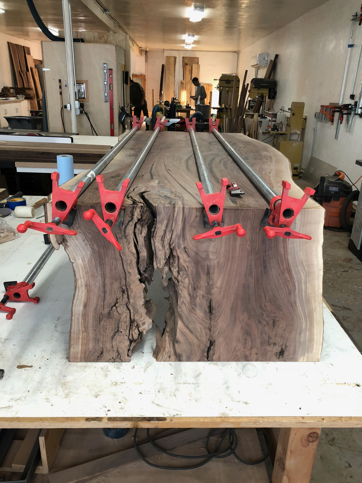 Awe Inspiring Live Edge Waterfall Coffee Table Glue Up Download Free Architecture Designs Scobabritishbridgeorg