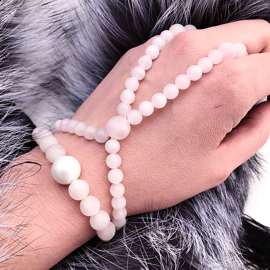 Set of Bracelet & Slave Bracelet Frosted Sakura