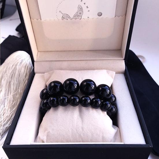Double set of Art Deco Statement Bracelet No 5 & French Bracelet