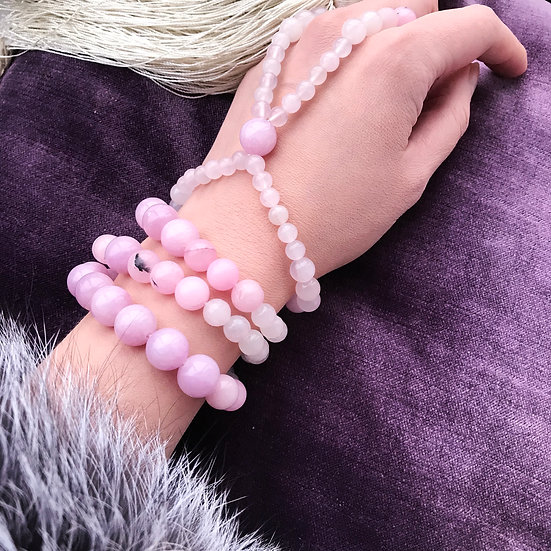 Lilac Sakura Fashion Set: Bracelet + Slave-bracelet