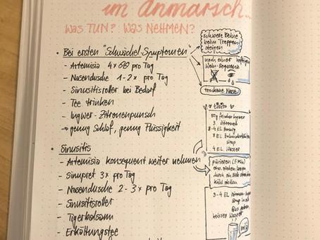 Kopf entrümpeln durch Aufschreiben (Info-Chart und Zeitleiter)