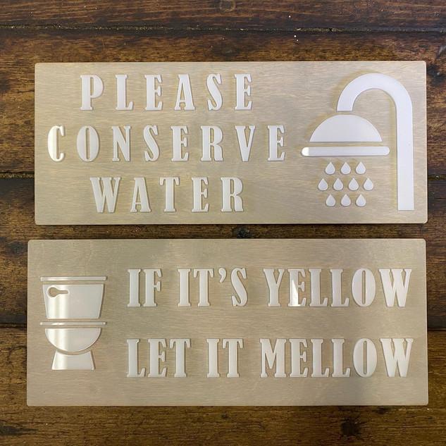 Summer Cottage Bathroom Signage