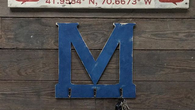 30x5 Reclaimed Wooden Engraved Town Sign w/Coordinates &Image