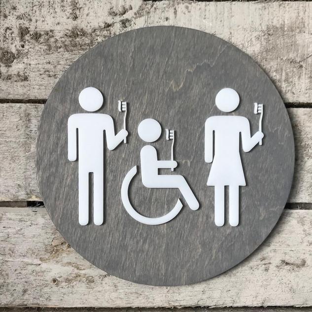 Dental Office Bathroom Sign