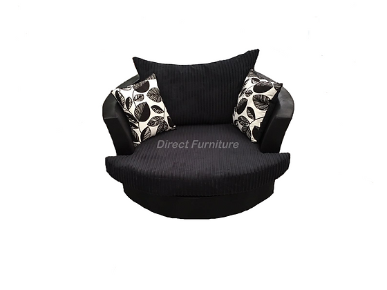 Swivel Chair In Black