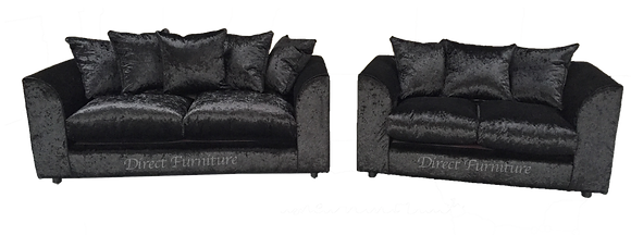3+2 Byron Sofa in Velvet Black