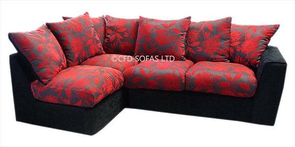 Samantha Corner Sofa In Red
