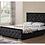 Thumbnail: 4.6ft Velvet Black Bedframe