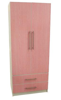 """Venie 30"""" Pink 2 Drawer Wardrobe"""