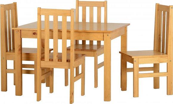 Ludlow 1+4 Dining Set In Oak