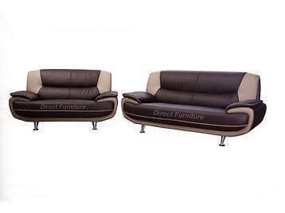 Palermo 3+2 Sofa Brown/Cream