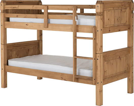 Corona 3ft Bunk Bed Waxed Pine