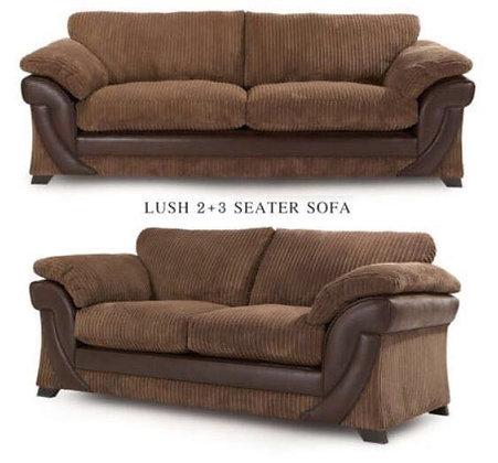 Lush 3+2 Sofa in Brown