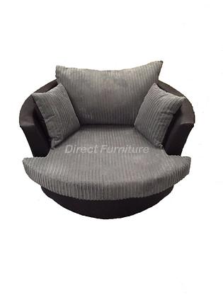 Swivel Chair In Grey