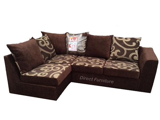 Samantha Corner Sofa In Brown