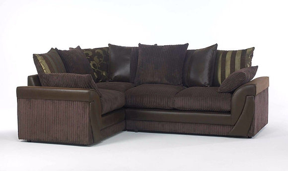 Lush Corner Sofa in Brown