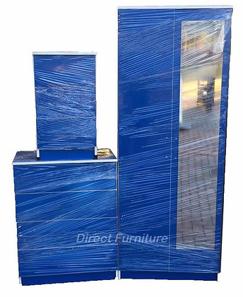 Venice Wardrobe & Drawers Package - Blue