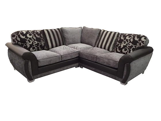 Shannon 2c2 Sofa in Black and Grey