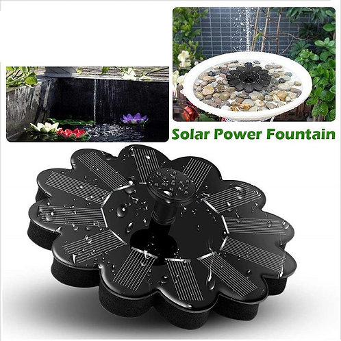 Submersible Waterfall Floating Solar Panel Water Fountain for Garden