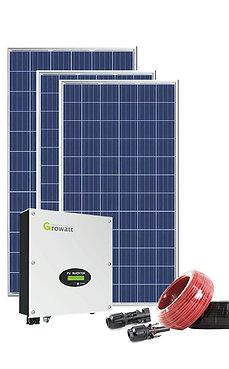 3KW NETZUNABHÄNGIGE SOLARANLAGE MIT 5,76 KWH ENERGIESPEICHER -GROWATT-WECHSELRICHTER