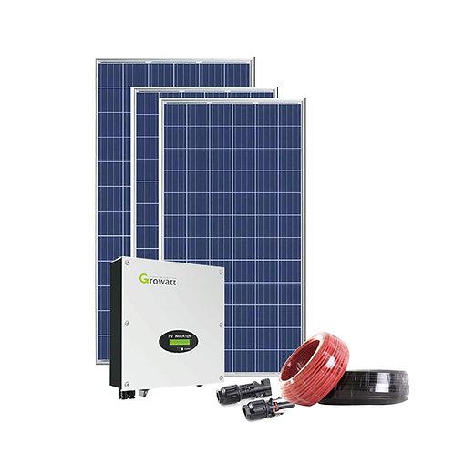 5KW OFF-GRID SOLAR SYSTEM WITH  12 KWH ENERGY STORAGE -GROWATT INVERTER