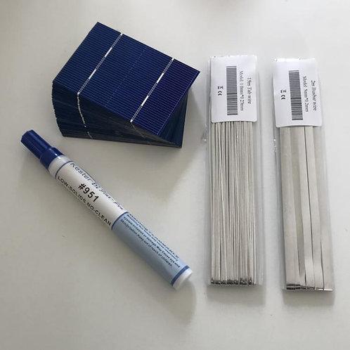 Mini Solar Cell 78*52mm + Soldering Kits for Diy Photovoltaic 12V 24V