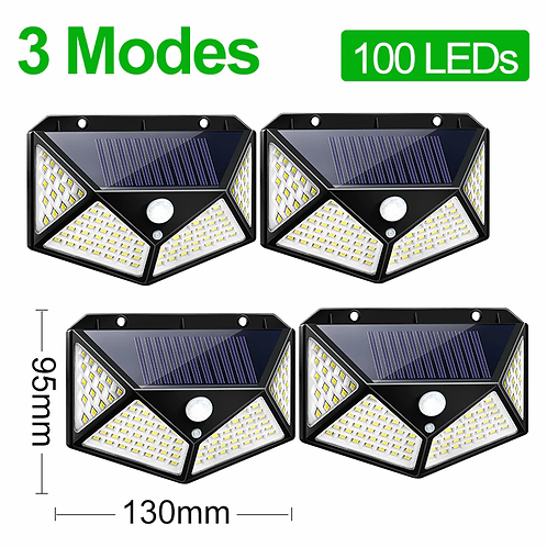 3 Modes Waterproof LED Solar Powered Outdoor Motion Sensor Wall Light