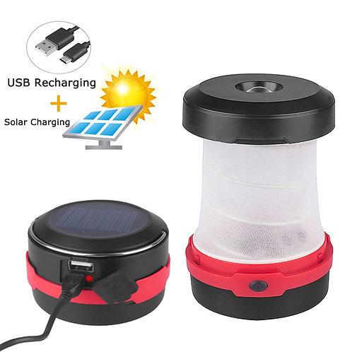 Solar Foldable LED Camping Lantern Light