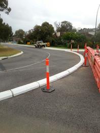 TCA Semi Barrier rubber kerb- Road closu