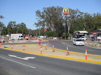 road works road safety sep kerb.JPG