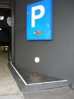 TCA Semi Mountable rubber kerb carpark.j