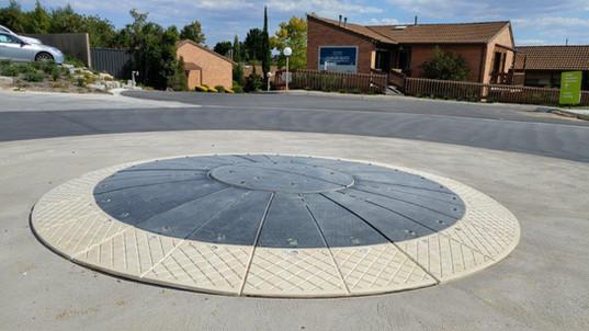 traffic calming australia 3mts roundabou