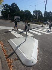 TCA Rubber pedestrian refuge island with