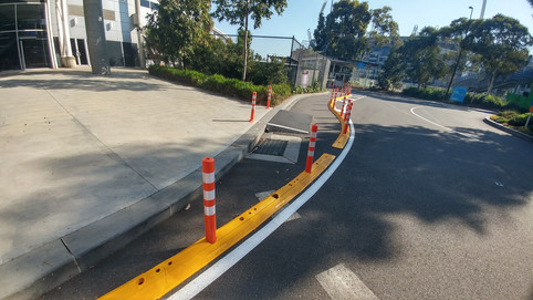 kerb delineation traffic calming austral