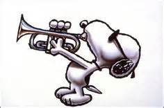 Snoopy impersonating Miles Davis