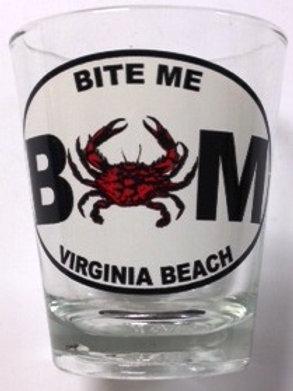 30020 - Shot Glass VB Bite Me Crab