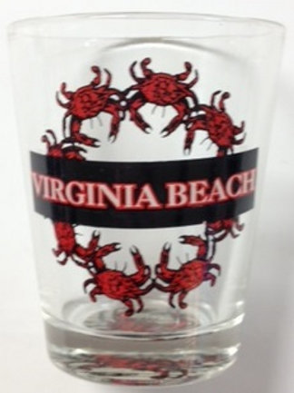 30128 - Shot Glass VB Crab Wreath