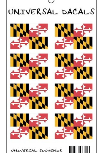 67754 - Hanging Multi Sticker Maryland Flags