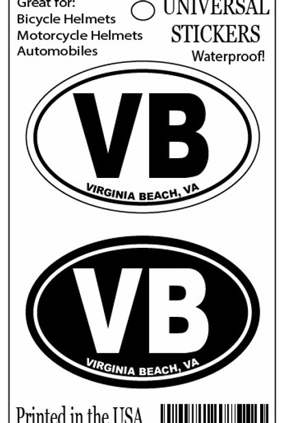 30258 - Double Hanging Mini Oval Sticker VB