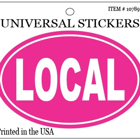10789 - Oval Sticker LOCAL Pink